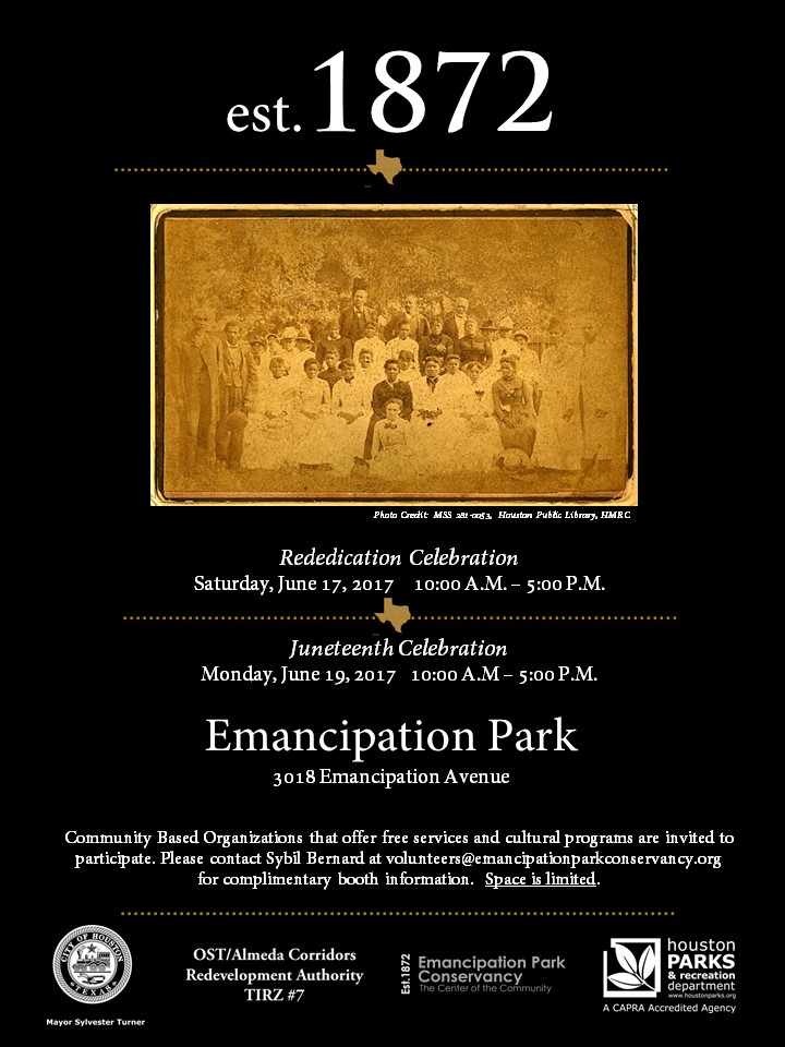 Emancipation Ave. Announcement